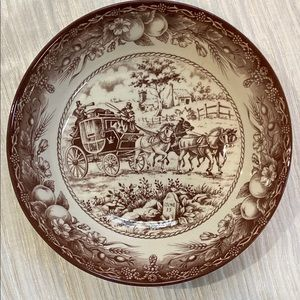 """Royal Stafford """"Horse Carriage"""" Soup Bowl"""